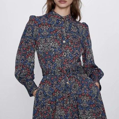 Fashion Spring Print Mini Long Sleeve Dress Wholesale NHAM198458's discount tags