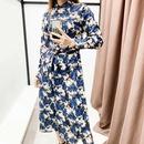 Fashion Spring Lapel Long Sleeve Lace Up Waist Print Shirt Jumpsuit Wholesale NHAM198464