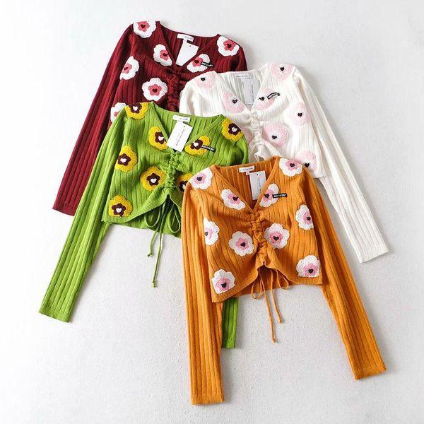 Wholesale Fashion Spring Drawstring Women's Short Sweater NHAM198473