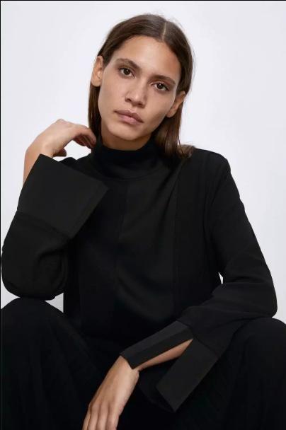 Spring satin stitching blouse tops wholesale NHAM198482