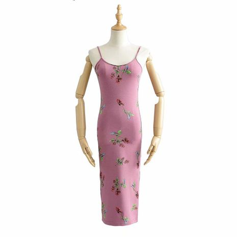 Spring fashion printed sling test split dress wholesale NHAM198486's discount tags