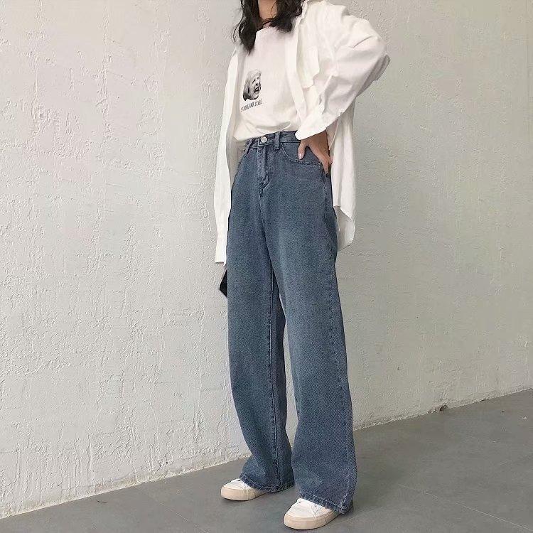 Wholesale Fashion Twill High Waist Women's Denim Wide Leg Pants NHAM198488