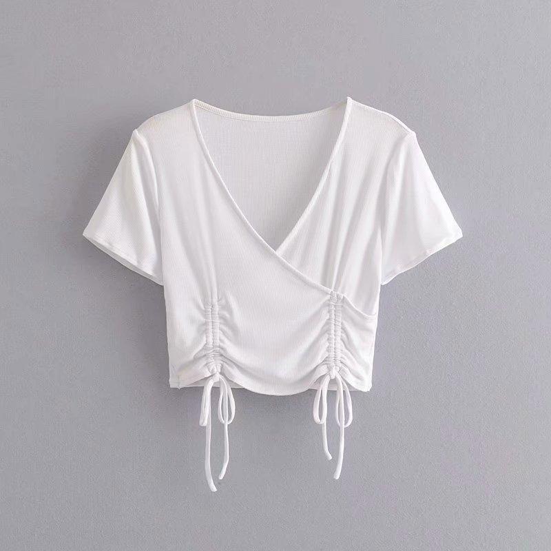 Spring fashion wild women's knitted short T-shirt top NHAM198490