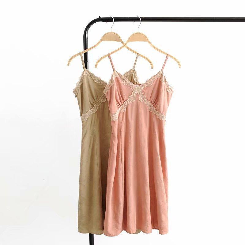 Spring fashion lace jacquard strap dress wholesale NHAM198491