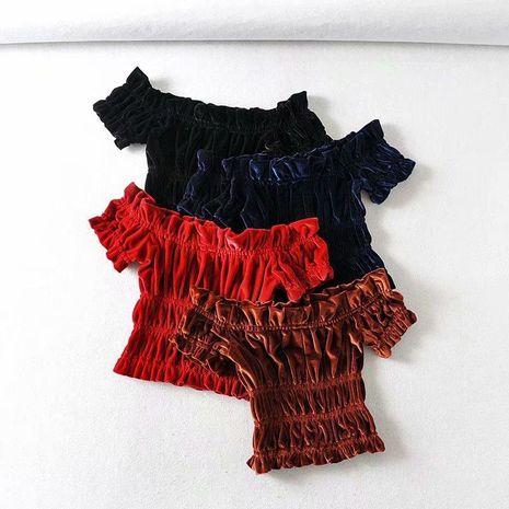 Camiseta de mujer flaca elástica de terciopelo salvaje de moda NHAM198495's discount tags