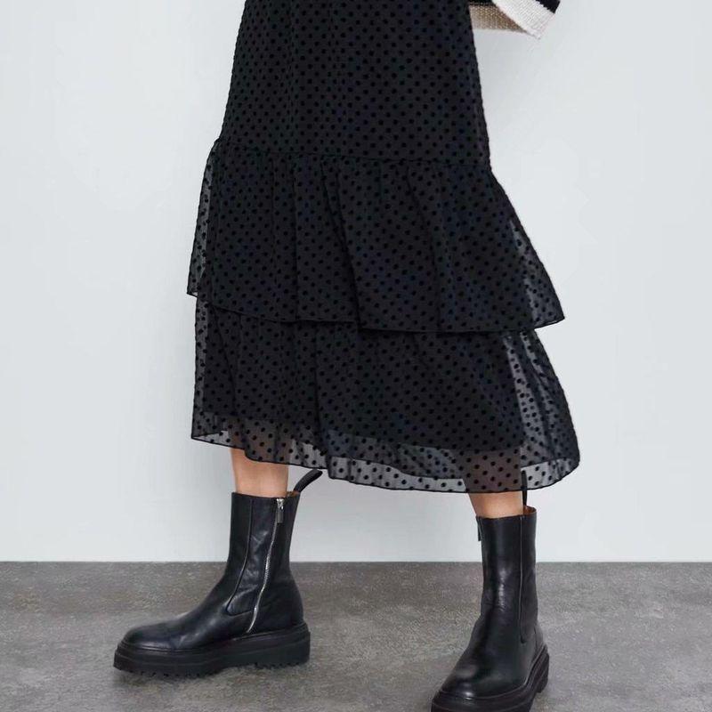 Spring Fashion Laminated Tulle Cake Skirt Wholesale NHAM198499
