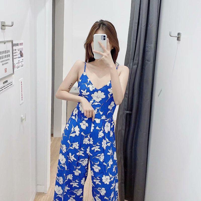 Wholesale Spring Flower Printed Jumpsuit NHAM198507