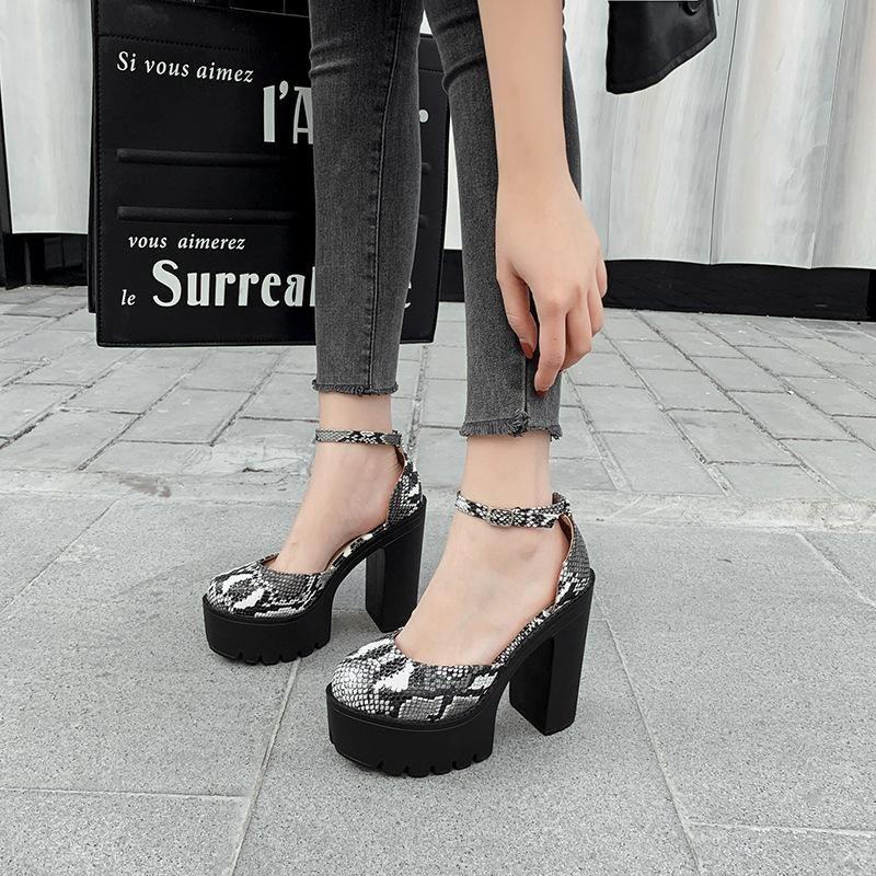 Summer new classic thick platform thick heel platform high heel wild hollow sandals women NHEH198511