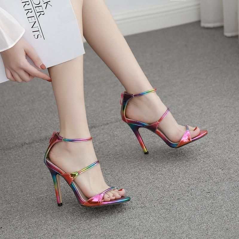 New women's shoes European and American style sexy stiletto sandals NHEH198521