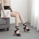 New Womens Shoes Roman Cross Strap Heeled Fish Head Sandals NHEH198532