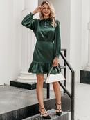Fashion womens dress wholesale solid color elegant dress skirt conservative NHDE198594