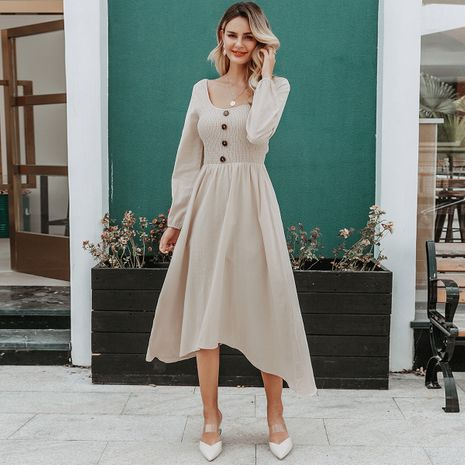 Fashion women's dress wholesale round neck long sleeve dress NHDE198612's discount tags