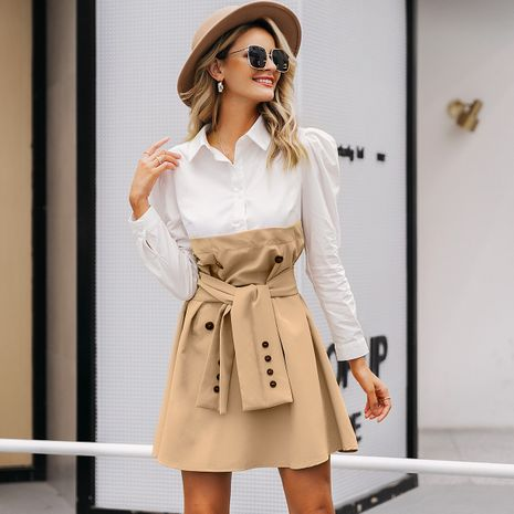Fashion women's dress wholesale simple style wild dress skirt NHDE198624's discount tags