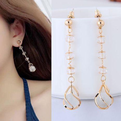 Korean jewelry earring earrings simple water drop jade personalized earrings NHSC199111's discount tags