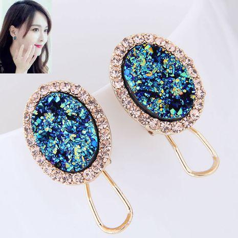 Korean fashion personality fashion diamond earrings NHSC199114's discount tags