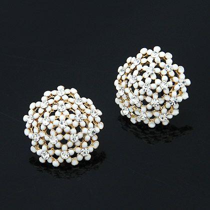 Fashion earrings Korean fashion sweet diamond flower earrings NHSC199116