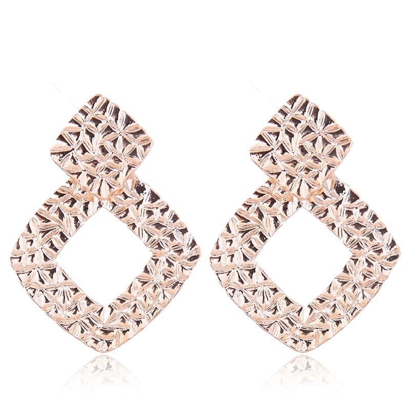 Earrings Fashion Metal Geometric Shaped Stud Earrings NHSC199105