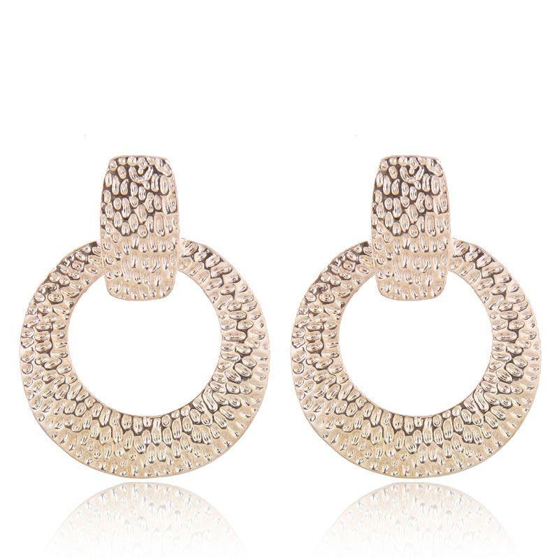 Earrings Fashion Metal Geometric Shaped Stud Earrings NHSC199104