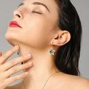 Personality Pentagram Star Series Jewelry Women Shining Crystal Fashion Wild Earring Necklace Set NHPP198631