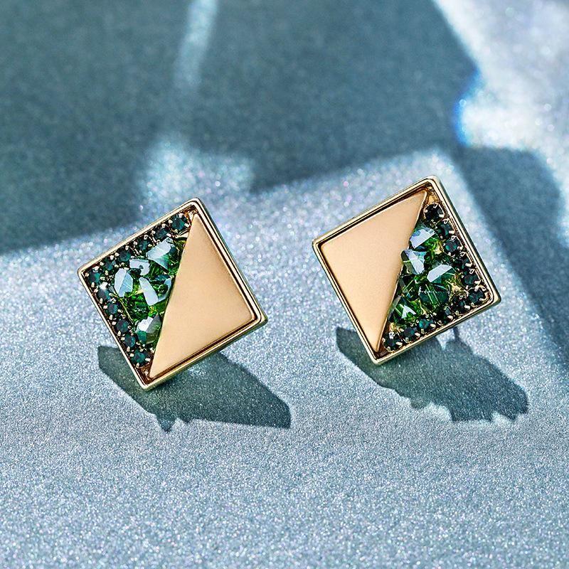 Silver pin high-quality geometric Korean temperament earrings earrings NHPP198635