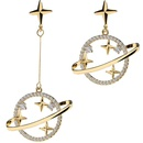 Universe Starry Series Personality Wild Set Jewelry Asymmetric Necklace Accessories NHPP198636