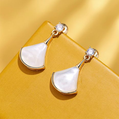 925 Silver Pin Scalloped Skirt Elegant Wild Earrings New Creative Ear Clip NHPP198637's discount tags