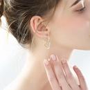 Hong Kong style love elegant new 925 silver needle long atmospheric creative earrings NHPP198641