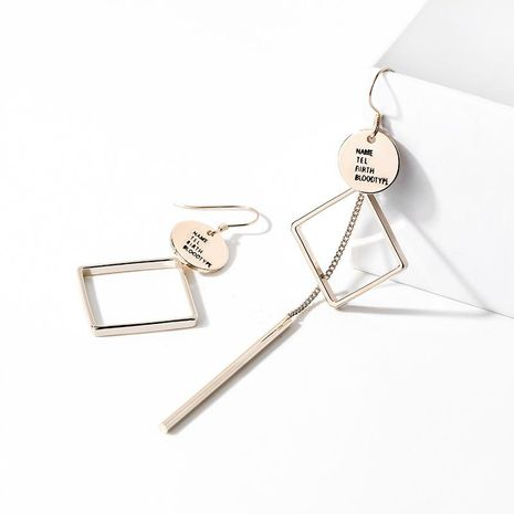 925 silver hook asymmetric fashion wild earrings for women wholesales fashion NHPP198642's discount tags