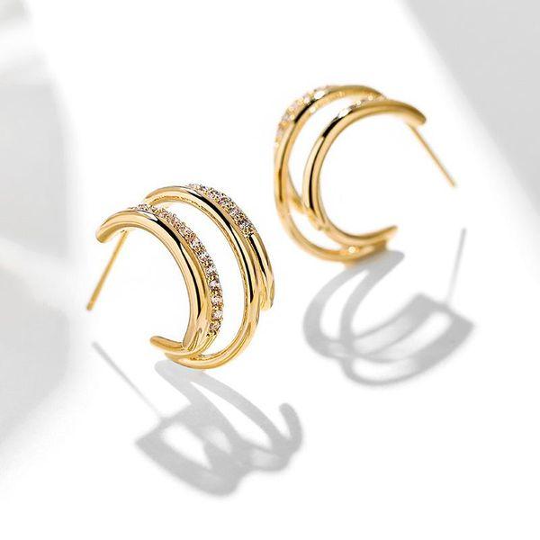 925 silver pin geometric personality simple earrings sexy elegant earrings NHPP198643