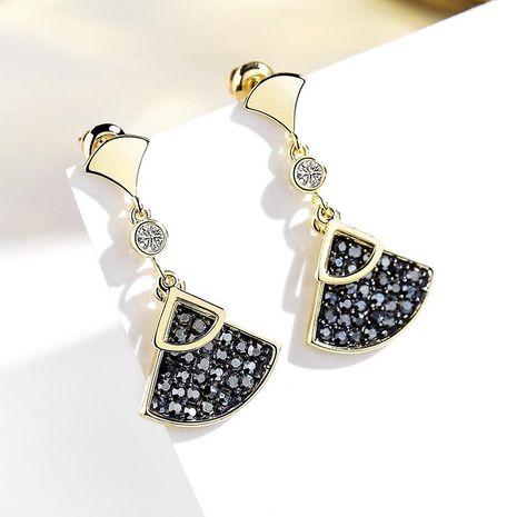 925 silver pin fan-shaped wild sweet fresh atmosphere simple earrings NHPP198645's discount tags