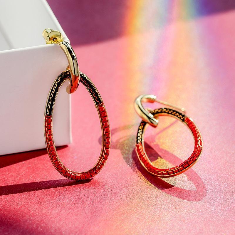 925 silver pin retro fashion circle atmospheric simple earrings wholesales fashion NHPP198647