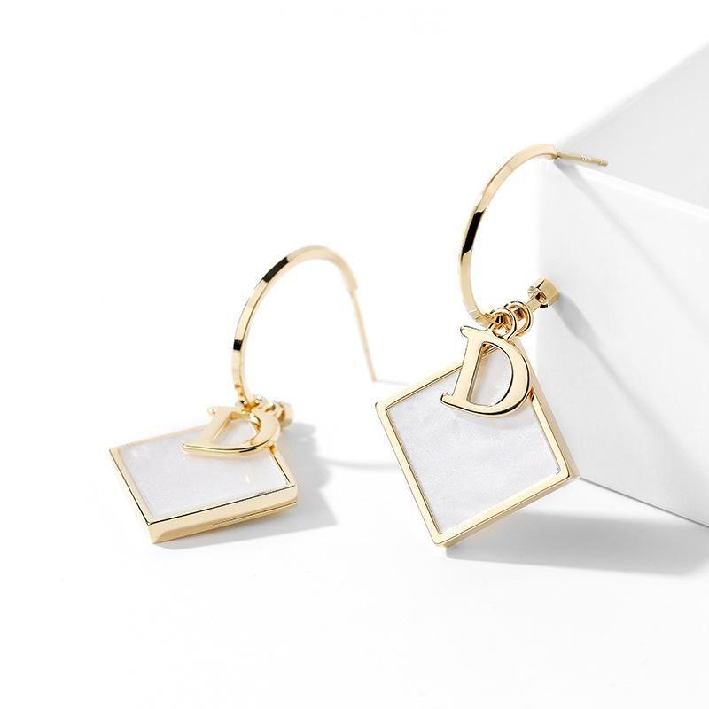925 silver pin wild geometric new elegant niche earrings for women NHPP198648