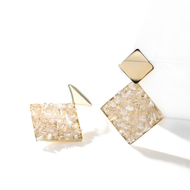 925 silver pin temperament geometric fashion wild retro niche earrings NHPP198650