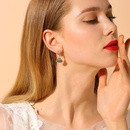 925 silver pin personalized fanshaped retro fashion wild elegant earrings NHPP198662