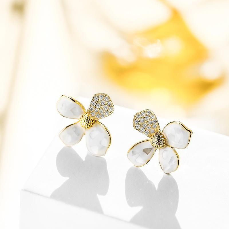 Sweet flower fashion personality simple elegant fashion earrings women wholesales fashion NHPP198680