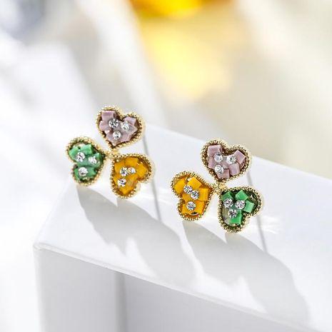 Love flowers elegant earrings personality atmospheric wild earrings NHPP198684's discount tags