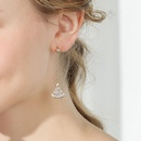 Fashion wild fanshaped skirt personality full diamond earrings women wholesales fashion NHPP198688