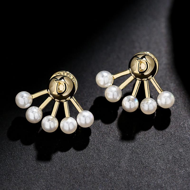 925 silver pin high-end small and wild letters simple personality earrings wholesales fashion NHPP198695