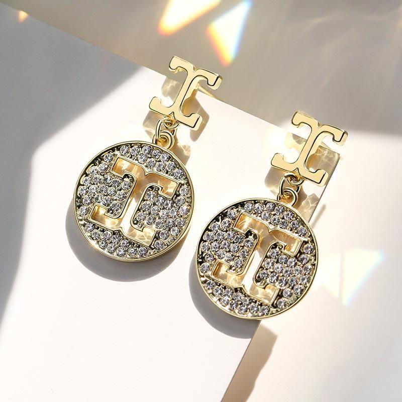 925 Silver Needle Geometric Letter Fashion Personality Hollow Elegant Wild Earrings NHPP198696