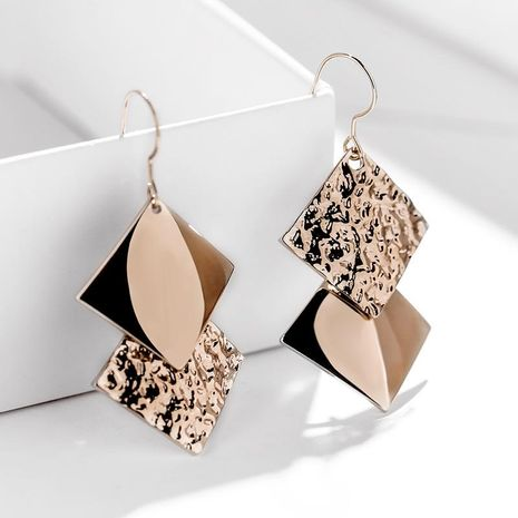 925 Silver Hook Diamond Asymmetric Geometric Elegant Simple Creative Earrings NHPP198704's discount tags
