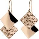 925 Silver Hook Diamond Asymmetric Geometric Elegant Simple Creative Earrings NHPP198704