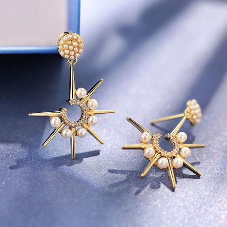 925 Silver Needle Personality Star Exaggerated Atmospheric Earrings Creative Eight Stars Wild Earrings NHPP198712's discount tags