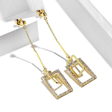 925 silver pin geometric elegant atmosphere sexy pendant long earrings women NHPP198714's discount tags