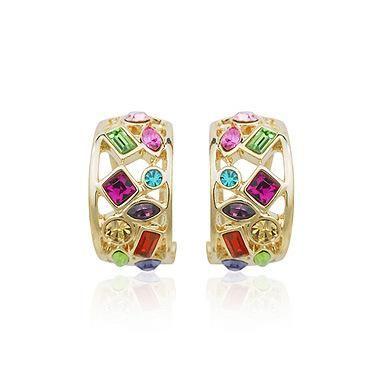 New fashion crystal earrings temperament queen earrings wholesale NHLJ198736