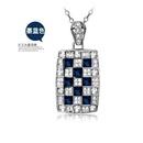 Fashion highend temperament Queen crystal necklace exquisite vintage diamond square pendant NHLJ198737