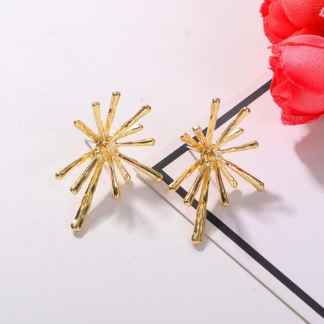 New simple personality exaggerated creative needle alloy earrings for women NHJQ198742's discount tags