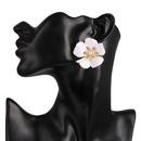 Fashion flowers elegant tassel earrings exaggerated alloy drip oil flower ladies earring earrings NHJJ198757