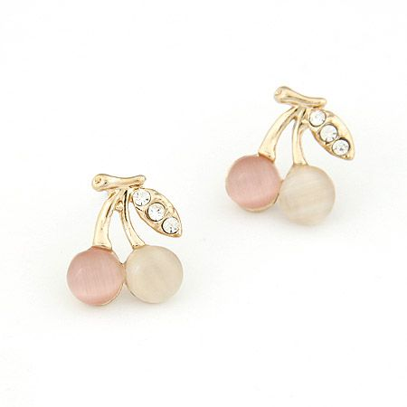 Korean fashion lady wears personalized cherry earrings NHSC199099's discount tags