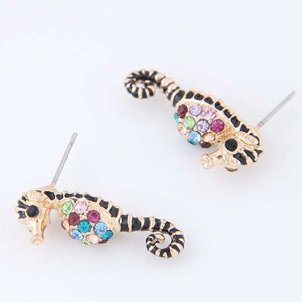 Korean fashion sweet and cute hippocampal personality earrings NHSC199097