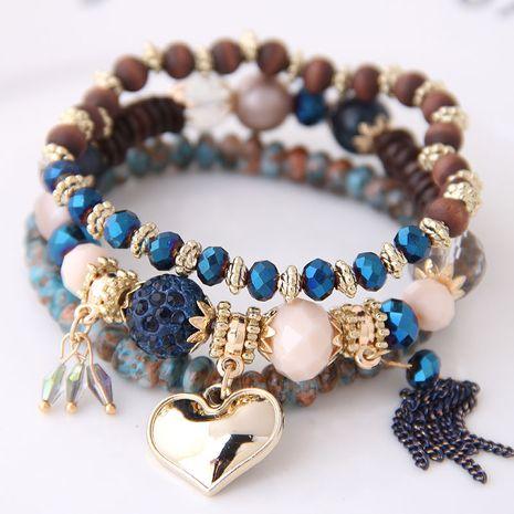 Fashion Sweet Wild Water Drop Peach Heart Tassel Fashion Temperament Female Bracelet NHSC199095's discount tags